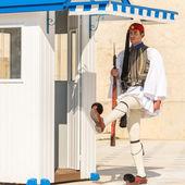 Greek soldier Evzones — Stock Photo