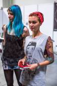 Unidentified participants at International Tattoo Convention — Foto de Stock