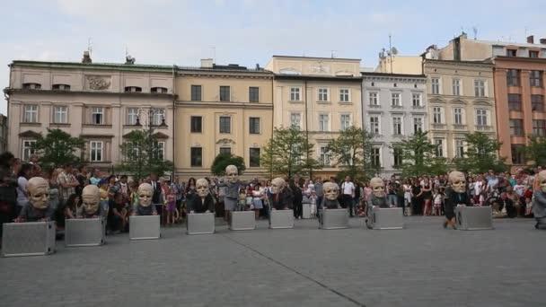 Teatr Kto Peregrinus en Plaza de armas — Vídeo de stock