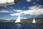 Boats in sailing regatta — Stock Photo