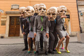 Teilnehmer beim internationalen Festival der Street Theater — Stockfoto