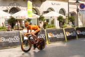 Unidentified participant of Tour de Pologne — Stok fotoğraf