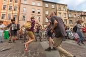 Participants at International Festival of Street Theatres — Stock Photo