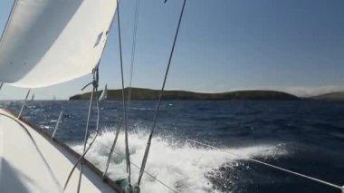 游艇帆船赛 — 图库视频影像