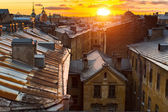 Rooftops of the historic center of St. Petersburg — Stock Photo