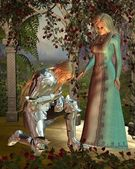 Sir Launcelot and Queen Guinevere — Stock Photo