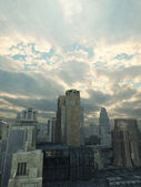 Future City After the Storm — Stock Photo