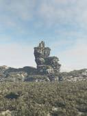 Ruined Tower on a Rocky Outcrop — Stock Photo