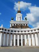 """VDNH, Exhibition of Achievements,Moscow. Pavilion 1 (""""Central"""") was built in 1954.  A monument of history and culture of national importance. September, 2014. — Stock Photo"""