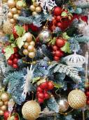 """Christmas toys background. Close-up.International Specialized Trade Fairs """"GIFTS EXPO. AUTUMN 2014"""" - """"CHRISTMAS & FESTIVE DECORATIONS"""" — Foto de Stock"""