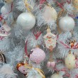 "Christmas toys background. International Trade Fairs ""GIFTS EXPO. AUTUMN 2014"" - ""CHRISTMAS & FESTIVE DECORATIONS"", Moscow. September, 2014. — Stock Photo #53844797"