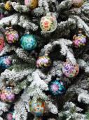 """Sfondo di giocattoli di Natale. fiere internazionali """"expo di regali. autunno 2014""""-""""natale & decorazioni festive"""", Mosca. settembre 2014. — Foto Stock"""