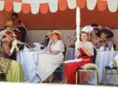 """Das vierte internationale historische Festival """"Zeiten und Epochen 1914-2014"""", Kolomenskoje, Moskau. 8. Juni 2014. — Stockfoto"""