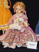 "Crafts. The 5th Moscow International Exhibition of Collectible Dolls ""Art of Dolls"". December, 2014. — Stockfoto"