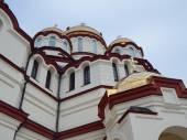 New Athos the Simon the Zealot monastery - monastery located at the foot of mount Athos in Abkhazia. January, 2015. — Stock Photo