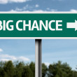 Creative sign with the text - Big Chance — Stock Photo #53524967