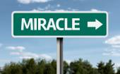 Creative sign with the text - Miracle — Stock Photo