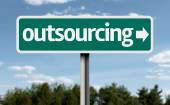 Outsourcing creative Sign — Stock Photo