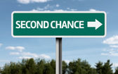 Creative sign with the text - Second Chance — Stockfoto