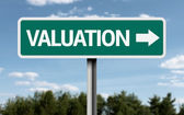 Valuation creative sign — Stock Photo