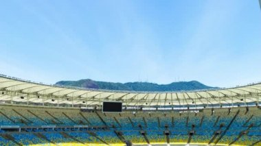 リオデジャネイロ、ブラジルで新しいマラカナ スタジアム — ストックビデオ