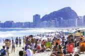 Spiaggia di copacabana a rio de janeiro, brasile — Foto Stock