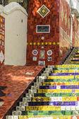 Selaron treppe (escadaria selaron) in rio de janeiro, brasilien — Stockfoto