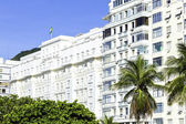 Facade of the Copacabana Palace Hotel, whose design was based on the style of hotels in the French Riviera, built in the 1920s. — Stock Photo