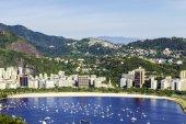 вид с воздуха на рио-де-жанейро, бразилия — Стоковое фото