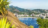 Rio de janeiro, brezilya havadan görünümü — Stok fotoğraf