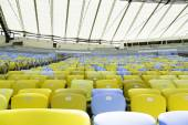 Colored Seating rows in the Maracana, Stadium — Stock Photo