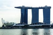 The Marina Bay Sands Resort Hotel in Singapore. — Foto Stock