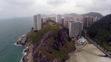 Big Rock in Guaruja, Sao Paulo, Brazil — Stock Video