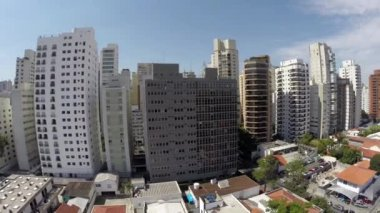 Aerial view of a rich area in Sao Paulo, Brazil — Stockvideo