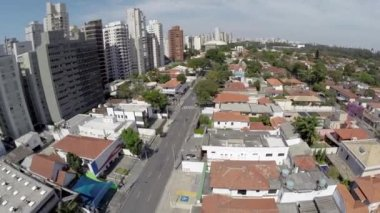Aerial view of a rich area in Sao Paulo, Brazil — Stock Video
