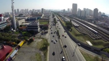 "The famous ""Radial Leste"" in Sao Paulo, Brazil — 图库视频影像"