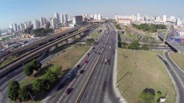 "The famous ""Radial Leste"" in Sao Paulo, Brazil — 图库视频影像"