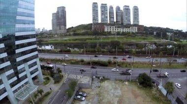 Marginal Pinheiros in Sao Paulo, Brazil — Stock Video