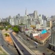 Aerial view of Sao Paulo city in a beautiful day — Stock Video #55987333