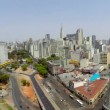 Aerial view of Sao Paulo city in a beautiful day — Stock Video #55987733