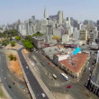 Aerial view of Sao Paulo city in a beautiful day — Stock Video #55987961