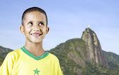 Little Brazilian boy smiling in Rio de Janeiro, Brazil. — Zdjęcie stockowe