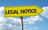 Legal Notice creative sign — Stock Photo