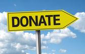 Donate creative sign — Stock Photo