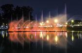 Fountains in Ibirapuera Park, Sao Paulo, Brazil — Stock Photo