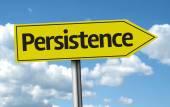 Persistence creative sign — Stock Photo