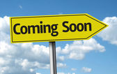 Coming Soon creative sign — Stock Photo