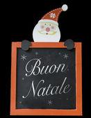 Lavagna di Natale scritta Merry Christmas (Italiano: Buon Natale) — Foto Stock