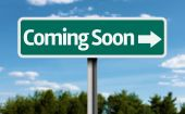 Coming Soon creative green sign — Stock Photo