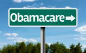 Obamacare creative green sign — Stock Photo